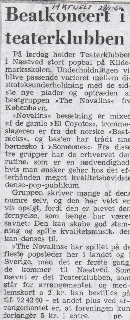 THE NOVALINS BEATCONCERT I TEATERKLUBBEN - AKTUELT