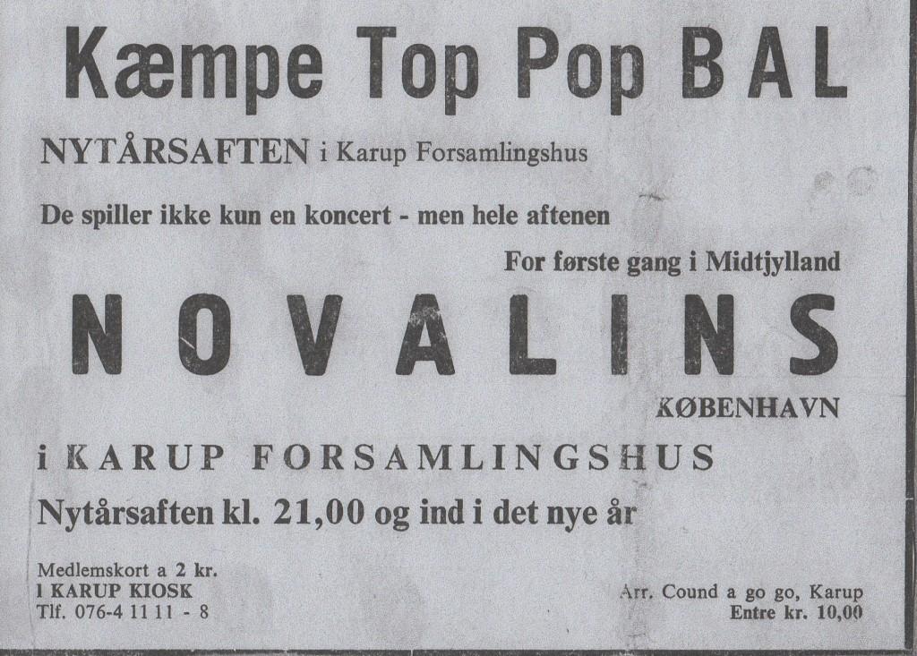 THE NOVALINS - KARUP FORSAMLINGSHUS